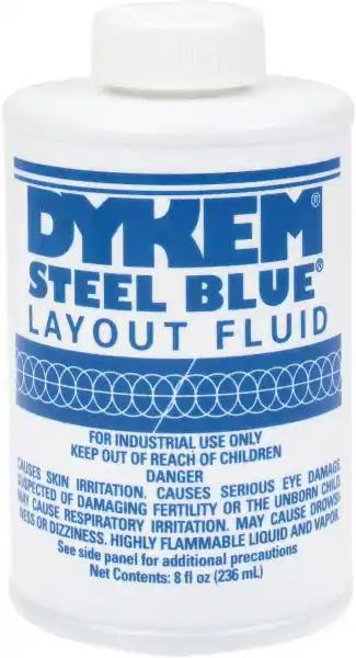 Dykem Steel Blue Layout Fluid 8oz.