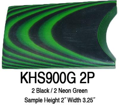 12″ x 12″ x 3/8″ Black/Neon Green UltreX™ G10 Sheet