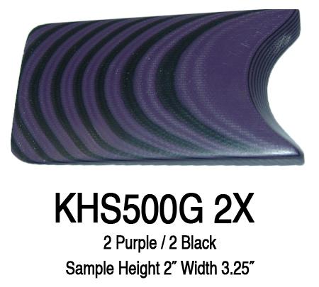 12″ x 12″ x 3/8″ Black/Purple UltreX™ G10 Sheet