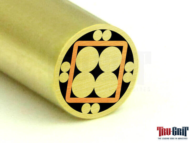 1/4 Mosaic Pin Brass/Brass/Copper # 14B02