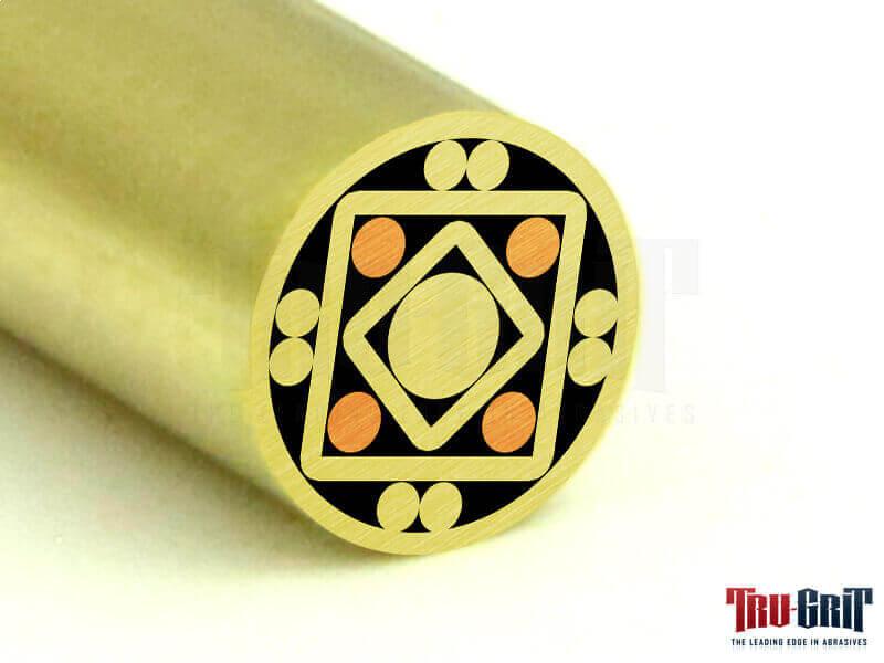 1/4 Mosaic Pin Brass/Brass # 14B12