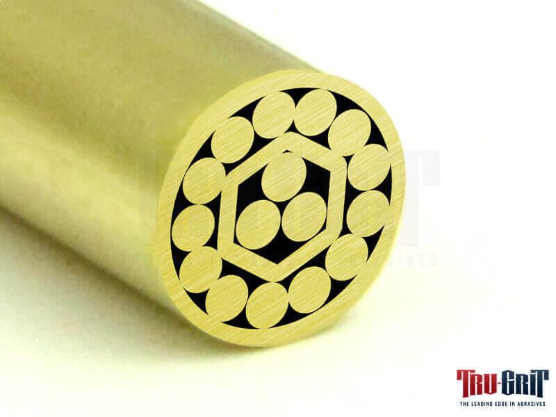 1/4 Mosaic Pin Brass/Copper/Brass # 14B13