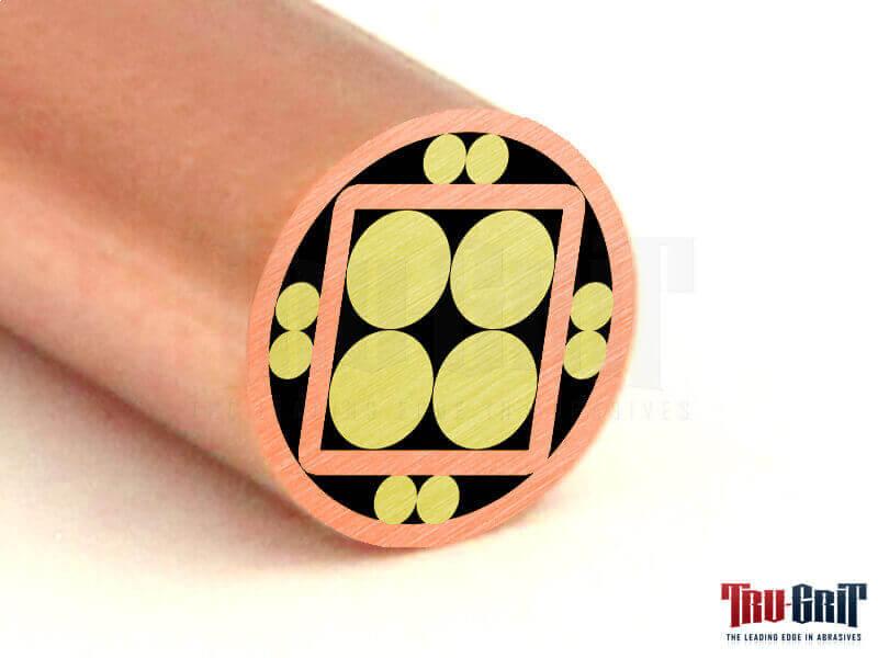 1/4 Mosaic Pin Copper/Brass/Copper # 14C02