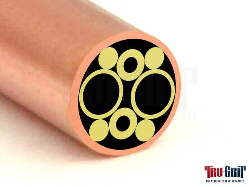 1/4 Mosaic Pin Copper/Brass # C08
