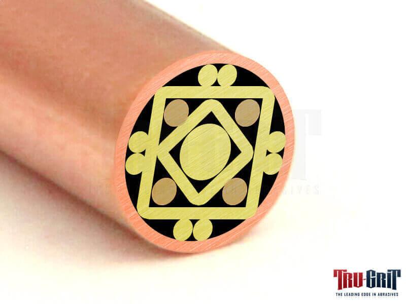1/4 Mosaic Pin Copper/Brass/Bronze # 14C12