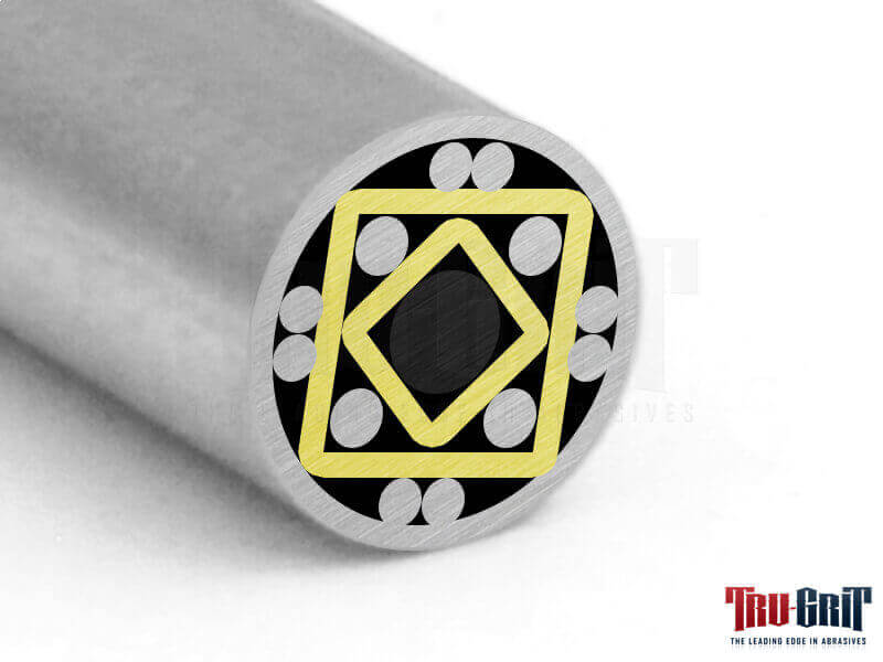 1/4 Mosaic Pin Stainless # S4