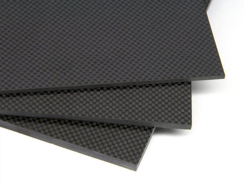 """8-1/2"""" x 11"""" x .130"""" Twill 2x2 Black Carbon Fiber LVA"""