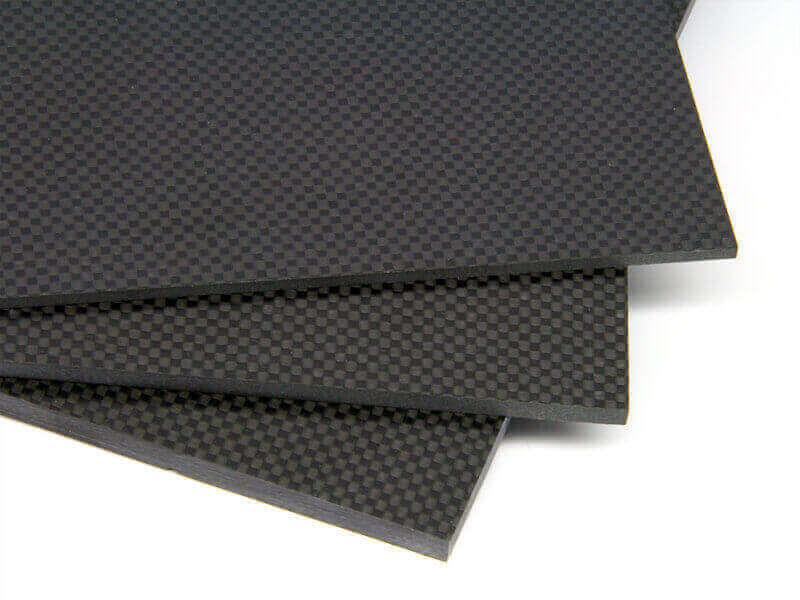 """8-1/2"""" x 11"""" x .250"""" Black 2x2 Twill Carbon Fiber LVA"""