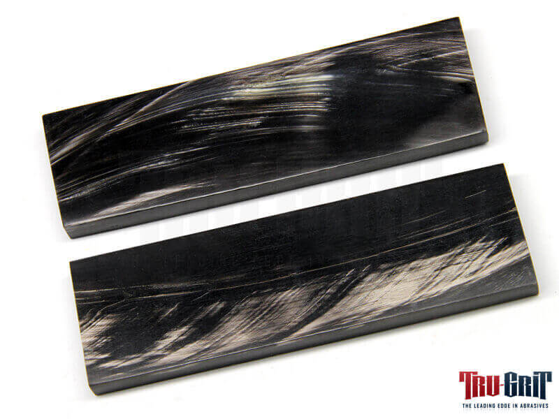 "Black & White Buffalo Horn Scales - 5"" x 1-1/2"" x 3/8"""