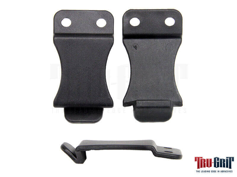 "1-1/2"" Fold Over Clip Nylon 66 Black (Pre-Drilled Oblong Holes)"