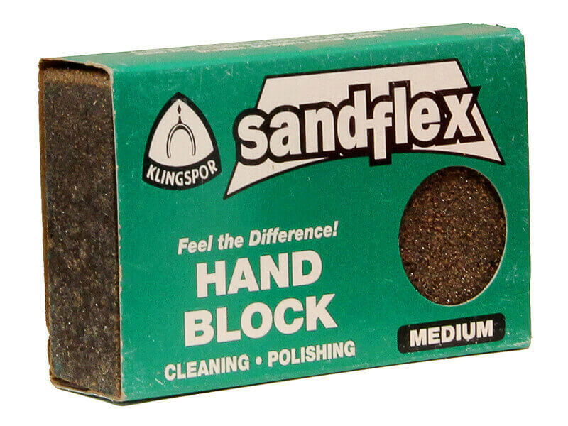 3 x 2 x 3/4 Sandflex Sanding Block - Medium 120
