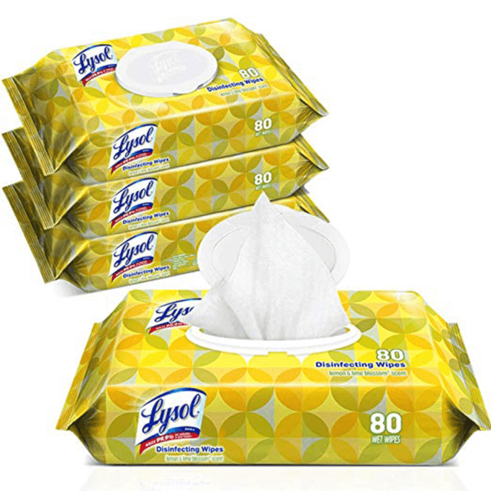 Disinfecting Wipes, Lysol, 80 wipes per pack